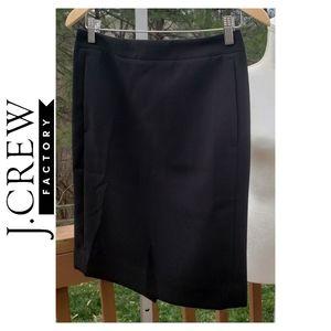 J.Crew The Pencil Skirt Black Sz 0